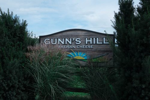 Gunn's Hill Artisan Cheese Sign