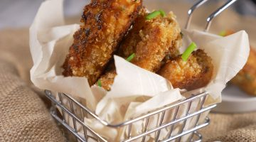 Panko Crusted Salmon Strips