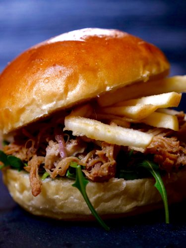 Joyce of Cooking Apple Pulled Pork Sandwich