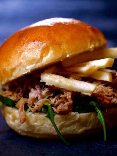 Joyce of Cooking Apple Pulled Pork Sandwich