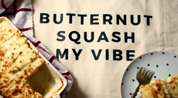 Butternut squash au gratin recipe