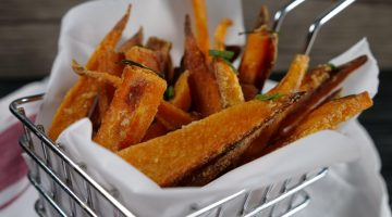 the crispiest sweet potato fries