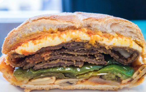 veal sandwich G&L European food