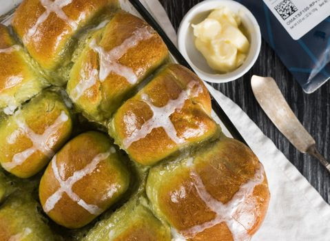 Matcha Hot Cross Buns