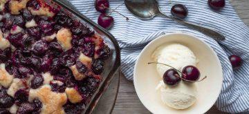 Home made cherry cobbler